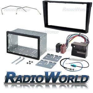 Vauxhall-Zafira-B-Black-Double-Din-Fascia-Panel-Adapter-Plate-Cage-Fitting-Kit-B