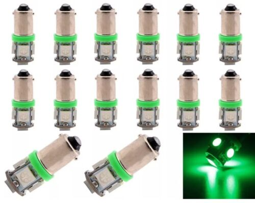 2 HMMWV GREEN LED Dash lights BRIGHTEST humvee bulbs 24V LED M1038 replacement