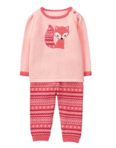 NWT Gymboree FOREST FOX Sz 6 12 18 24 M Fox Sweater Outfit Set 2 Pcs Gorgeous