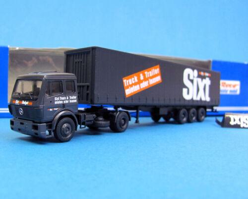 Roco H0 1579 MB 1838 SIXT Schiebeplanen Sattelzug LKW Mercedes truck HO 1:87 OVP