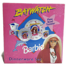 Barbie Doll Baywatch 3 Piece Dinner Ware Set Cup Bowl Plate Mint Condition VTG  sc 1 st  eBay & Vintage Barbie Dinnerware Set 3 Pieces | eBay