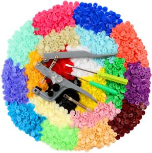 400 Set Snap Buttons Fastener 20 Colors with 30pcs Plastic ilauke Snap Pliers