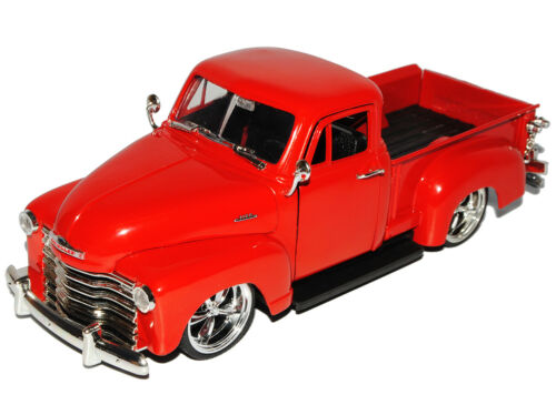 CHEVROLET CHEVY 3100 pick-up Rouge 1953 TUNING 1//24 Jada modèle voiture avec ou sans aucun...