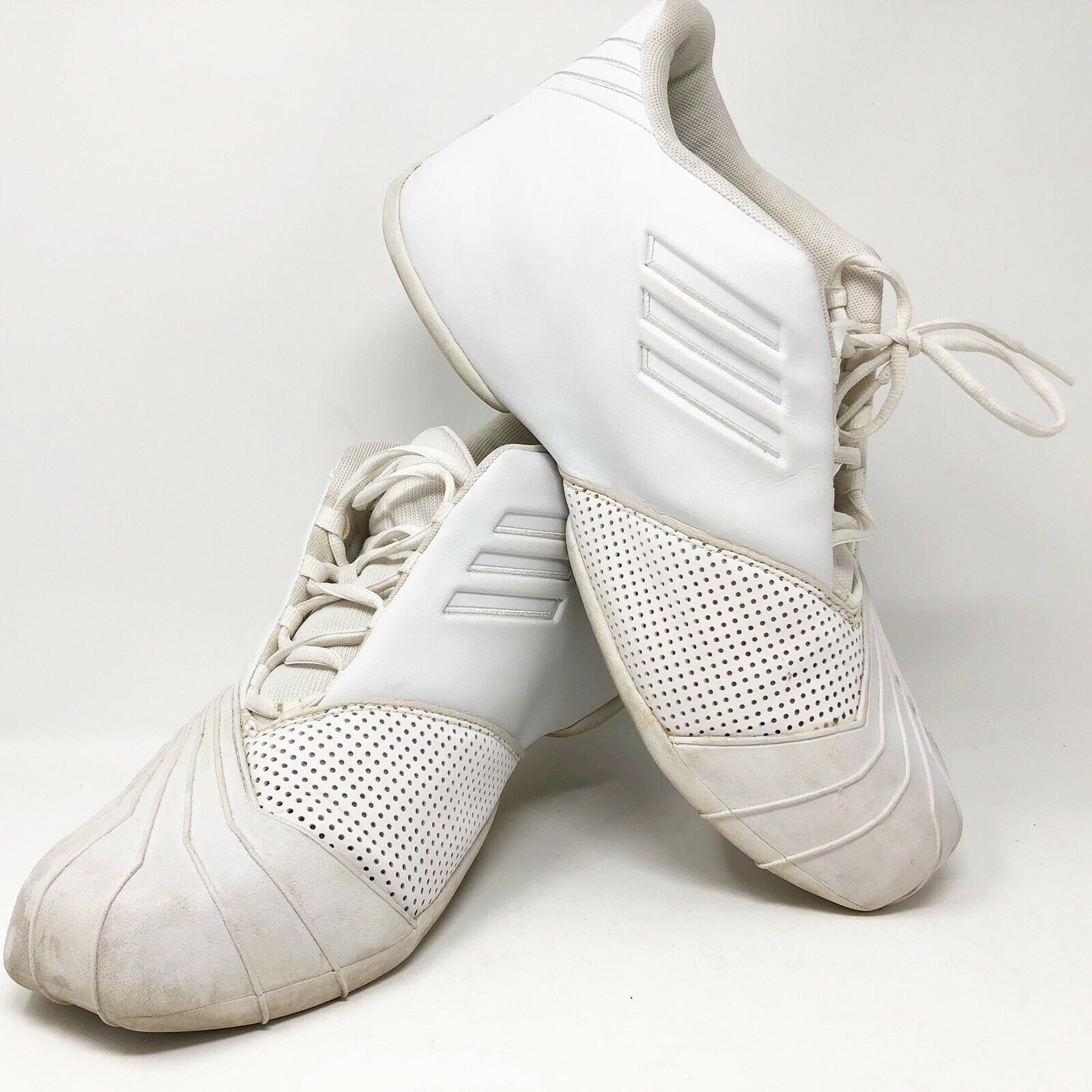 Adidas Adiprene Torsion Athletic shoes Mens size 12 White Basketball Sneakers