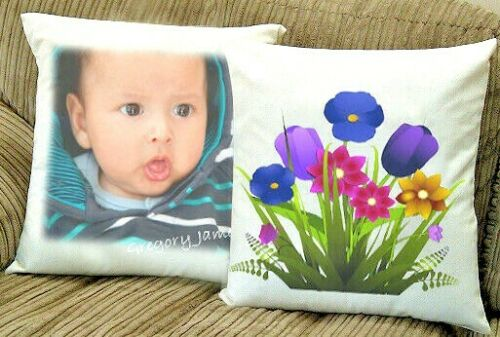 Personalised Photo//Text On Cushion 35x35 CM