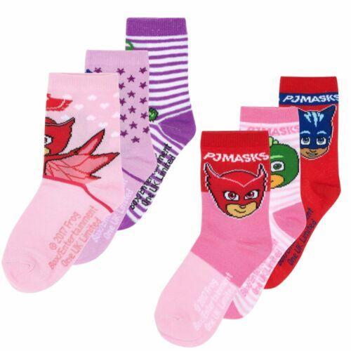 3-er Pack SockenPyjamaheldenPJ MasksStrümpfe für Mädchen23-34