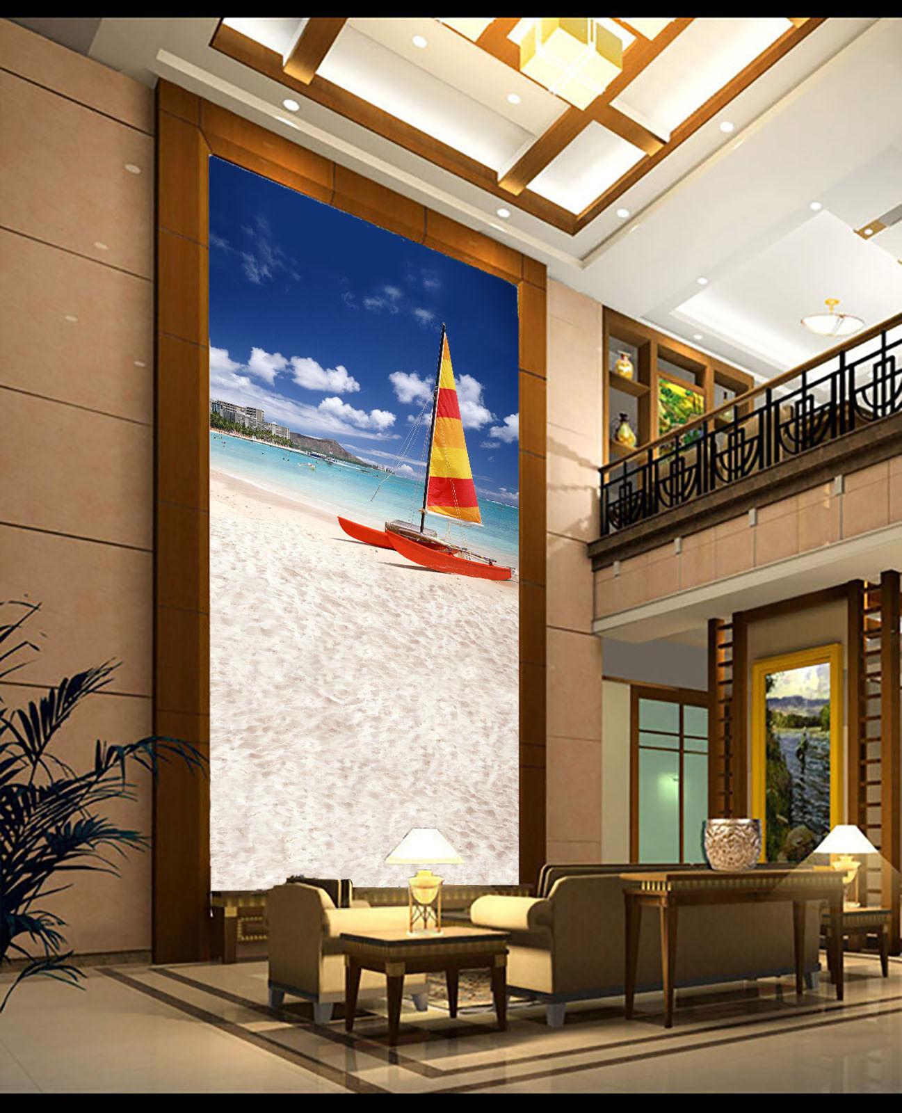 3D Segeln Strand 864 Tapete Wandgemälde Tapete Tapeten Bild Familie DE Summer | Bevorzugtes Material  | Erlesene Materialien  | Spielen Sie auf der ganzen Welt und verhindern Sie, dass Ihre Kinder einsam sind
