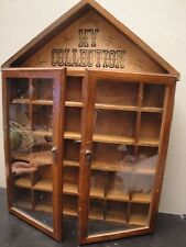 VTG ENESCO MY COLLECTION Wall Shelf Shadow Curio Knick/Knack Cabinet Glass Door