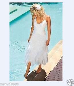 Image Is Loading Short White Ivory Bohemian Beach Wedding Dresses Summer