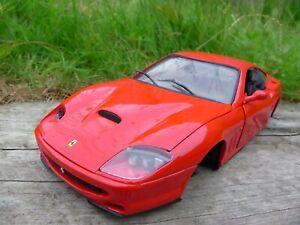 Anson-1-18-Red-Diecast-Ferrari-550-Maranello-coche-modelo-para-reparacion-de-piezas-Diorama