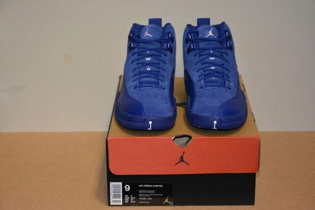 84e3fd2e162f0 Nike Air Jordan 12 XII Retro Deep Royal Blue White Grey Sz 9 130690-400