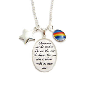 WIZARD-OF-OZ-charm-necklace-Somewhere-over-the-rainbow-lyrics-star-toto-dorothy