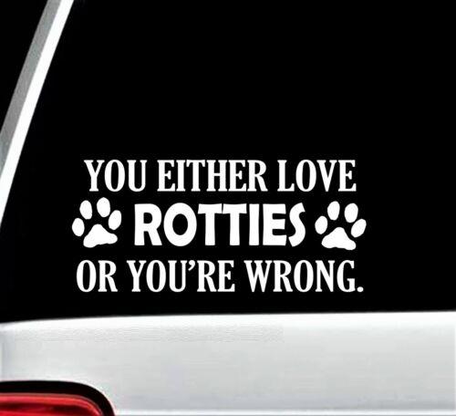 Rottie Lover Rottweiler Dog Paw Decal Sticker for Car Window 8 Inch BG 260