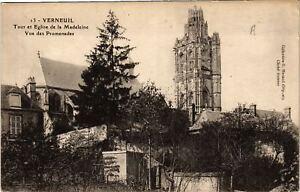 CPA AK VERNEUIL - Tour et Église de la Madeleine - Vue des Promenades (654663)