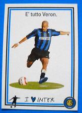 CARTOLINA UFFICIALE CALCIO INTER - 2005/06 - JUAN SEBASTIAN VERON - PC N. 6014