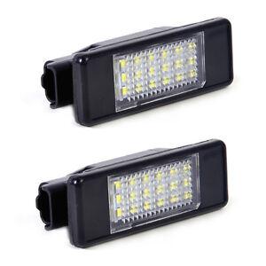 2x-Kennzeichenleuchten-Nummernschild-18-LED-6340-G9-6340-A5-fuer-Peugeot-207-308
