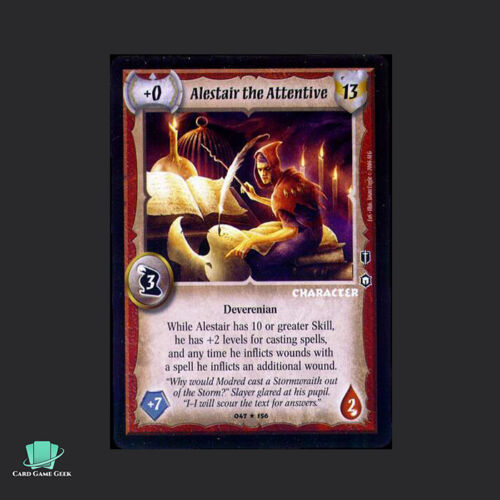 Warlord Saga of the Storm SotS CCG Alestair the Attentive