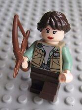Lego KATNISS EVERDEEN Minifigure Custom from HUNGER GAMES Bow & Arrow Mockingjay