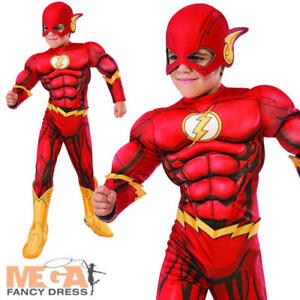 Great Image Is Loading Deluxe The Flash Kids Costume Muscle Chest Justice