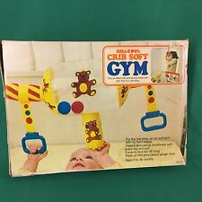 Vintage Baby Gym Activity Soft Crib Toy Teddy Bear Shelcore Bright Colors