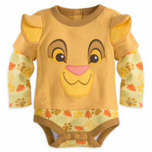 1855d793b43 Disney Store Lion King Simba Baby Costume Outfit Set Months 0 3 6 9 ...