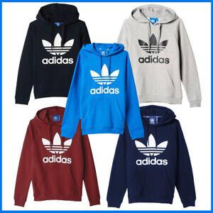 Das Bild wird geladen Adidas-Kapuzenpullover-Hoodie-Sweatshirt-Trefoil -Sport-Fitness-Hoody- 7b6c38dbff