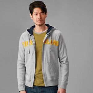 Timberland-A151Z-Exeter-River-Zipper-Hoody-Hoodie-Sweatshirt-Gray-Yellow-Mens