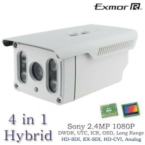 Long Range HD 2.4MP Sony Hybrid 1080P Bullet Matrix Camera HD-SDI EX-SDI 395FT