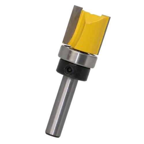 """8mm Shank 3//4/"""" Cutting Dia Router Bit 20mm Woodwork Straight Flush Cutter"""