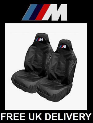 BLACK BMW RACING M SPORT PREMIUM CAR SEAT COVERS PROTECTORS 100/% WATERPROOF