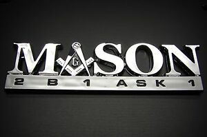MASON FREEMASON EMBLEM LOGO DECAL STICKER FOR CARS OR ANY OTHER MULTI PURPOSE