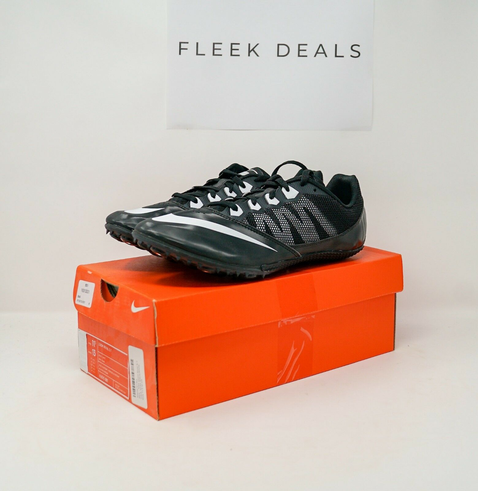 new style a8dd9 1a909 NIKE ZOOM ZOOM ZOOM RIVAL S 7 Sprint Track Spikes  Black White  Mens