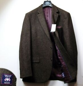 Wool amp;s Brown M 44 Luxury Fit Blazer Pure Jacket Medium Mix Regular ~ qHTBtT