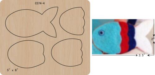 New fish Wooden die Scrapbooking Cutting Dies Free shipping  C-374-4