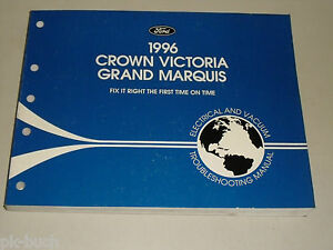 Electricity Wiring Diagrams 1996 Ford Crown Victoria Grand Marquis Ebay