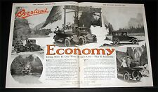 1920 OLD MAGAZINE PRINT AD, WILLYS-OVERLAND, DOING MORE IN LESS TIME, LESS COST!
