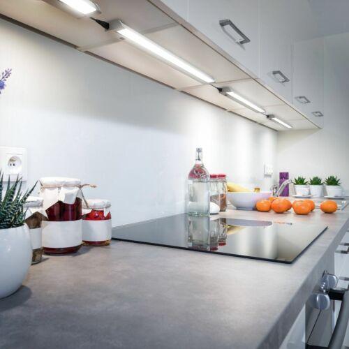 DEL Soubassement Barre Armoire-Lampe pivotant de cuisine-lampe atelier Argent//Blanc