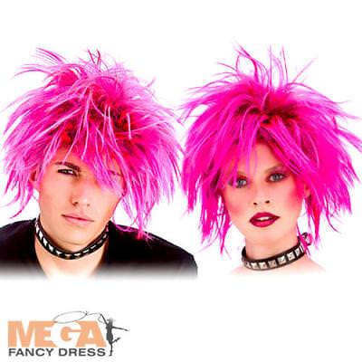 80s Rosa Punk Rock Adulti Parrucca Costume 1980s Uomo Donna Accessorio Costume-mostra Il Titolo Originale Disponibile In Vari Disegni E Specifiche Per La Vostra Selezione