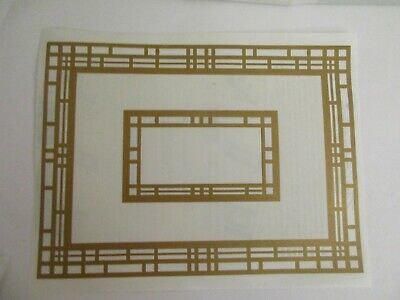 Art Deco Frame Gold Frame Stickers 2000 Melissa Carlson Stickers by the Yard Paper Whispers 5 Sheets Mrs Grossman Stickers