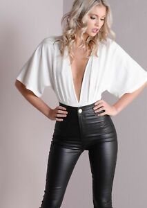 For-Women-100-Real-Lambskin-Stretch-able-Leather-skinny-fit-pant-Lagging-Style