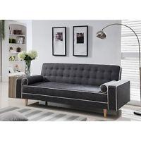 Futon Sofa Bed Modern Couch Mattress Convertible Tufted Lounger Sleeper Gray