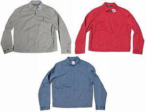 Polo-Ralph-Lauren-Mens-Beige-Red-Blue-Pony-Logo-Windbreaker-Zip-Jacket-Coat-New