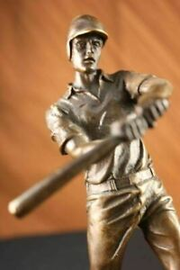 Bronze-Sculpture-Handcrafted-Collectible-Baseball-Player-by-Milo-Lost-Wax-Method