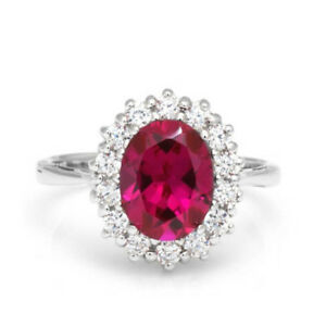 18K-Solid-White-Gold-Ring-2-48-Ct-Natural-Diamond-Ruby-Gemstone-Band-Size-7-8-9