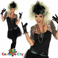 Women Ladies Wild Child Music Pop Star 80s 1980s Madonna Fancy Dress Costume