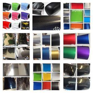 CarbonFibre-Matte-Gloss-Comouflage-Check-Chrome-Vinyls-Car-Wrap-30cm-x-1-52m