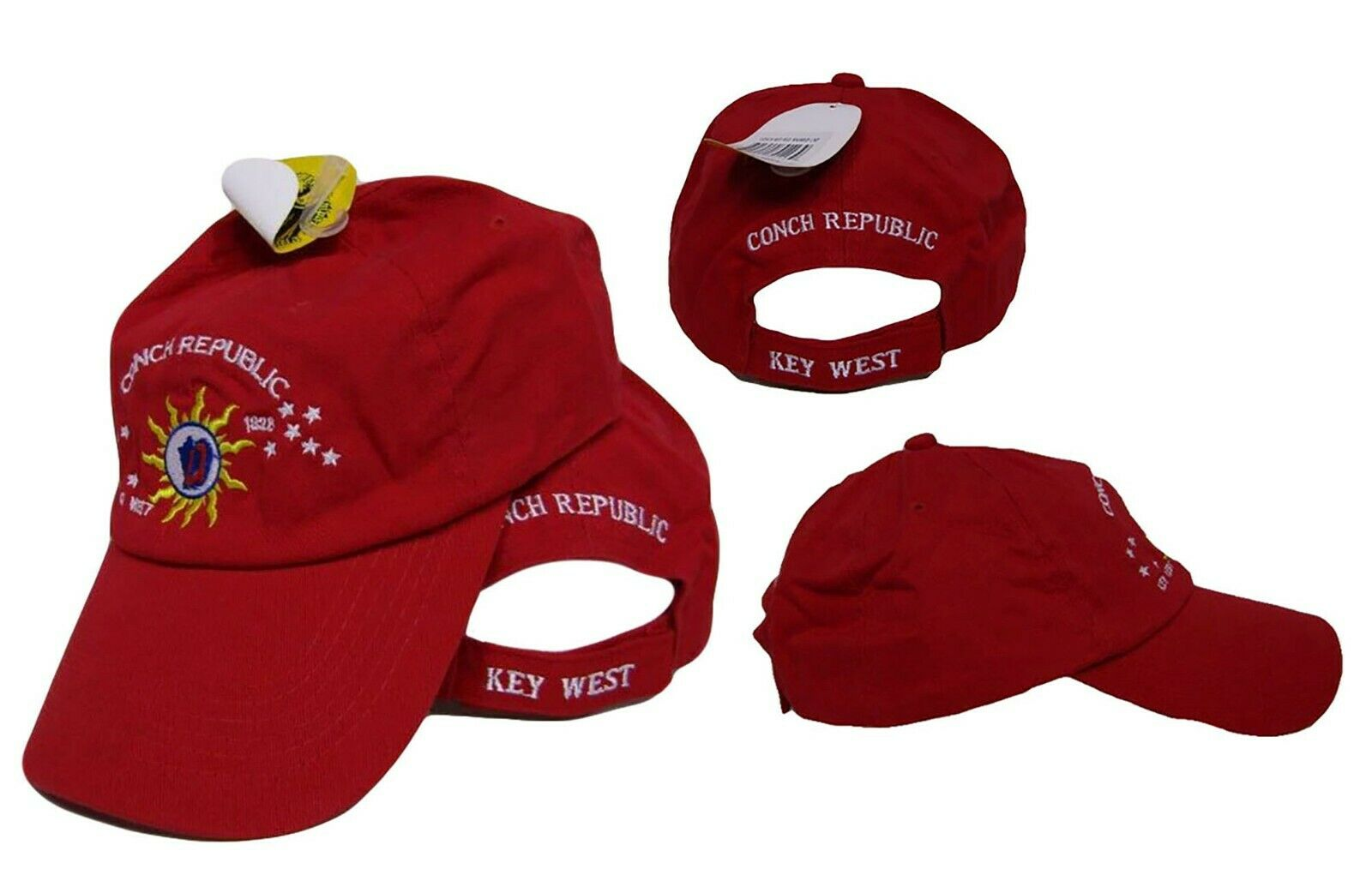 Key West Florida Conch Republic Deep Washed Light Pink Baseball Hat Cap
