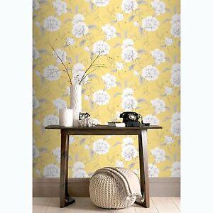 Boutique-Floral-Papier-Peint-Jaune-Rasch-226164-Fleurs
