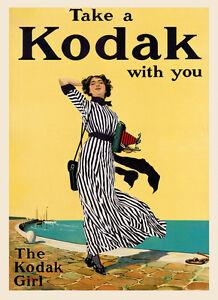 Australia Lady Beach Travel Vintage Poster Repo FREE S//H in USA