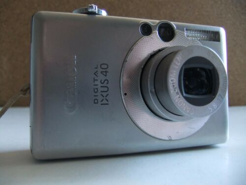 1 of 1 - Canon IXUS 40 / PowerShot Digital ELPH SD300 4.0MP Digital Camera - Silver